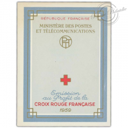 FRANCE CARNET CROIX-ROUGE N°2008, TIMBRES NEUFS**1959