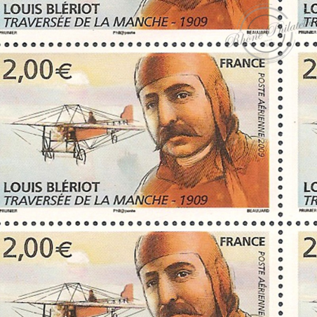PA N°_72 LOUIS BLERIOT 2009 LUXE feuille de 10 timbres sous blister