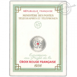 FRANCE CARNET CROIX-ROUGE N°2005, TIMBRES NEUFS**1956