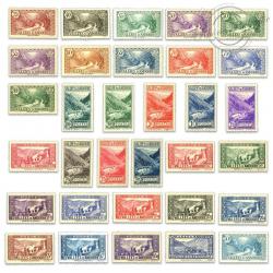 ANDORRE FRANÇAIS N°61 À 92, PAYSAGES, TIMBRES NEUFS*1937-43