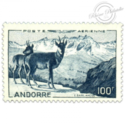 ANDORRE FRANÇAIS PA N°1, PAYSAGE, TIMBRE NEUF**LUXE-1950