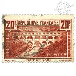 FRANCE N°262 PONT DU GARD, TIMBRE OBLITÉRÉ, 1929