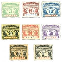 GUINÉE TAXE N°1 À 8, SÉRIE DE TIMBRES NEUFS*1906-08