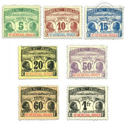 HAUT-SÉNÉGAL ET NIGER, TAXE N°1 À 7, SÉRIE DE TIMBRES NEUFS*1906