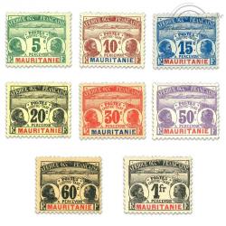 MAURITANIE, TAXE N°9 À 16, SÉRIE DE TIMBRES NEUFS*1906