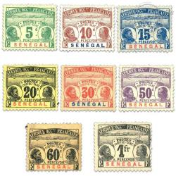 SÉNÉGAL, TAXE N°4 À 11, SÉRIE DE TIMBRES NEUFS*1906