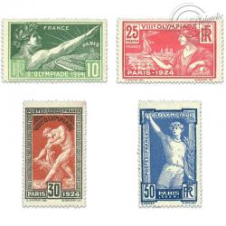 FRANCE N°183 à 186, JEUX OLYMPIQUES DE PARIS, TIMBRES NEUFS**1924
