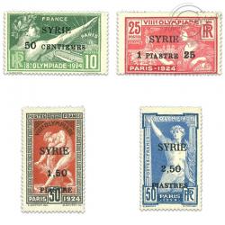 SYRIE N°122 À 125 JEUX OLYMPIQUES SURCHARGÉS, TIMBRES NEUFS*1924