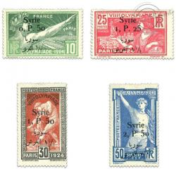 SYRIE N°149 À 152 JEUX OLYMPIQUES AVEC SURCHARGE BILINGUE, TIMBRES NEUFS*1924