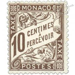 MONACO TIMBRE TAXE N°4, TIMBRE NEUF*1905-09