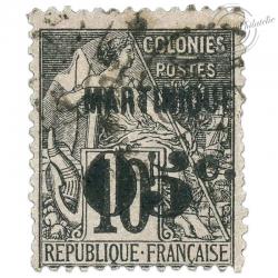 MARTINIQUE N°10 TYPE ALPHEE DUBOIS, TIMBRE OBLITÉRÉ-1888-91