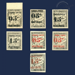 MARTINIQUE N°19 À 25 TIMBRES TAXE NEUFS*1891-1892