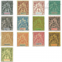 MAYOTTE N°1 À 13, TIMBRES POSTE TYPE SAGE NEUFS*/OBL 1892-99