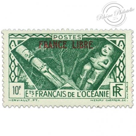 OCÉANIE N°148 FRANCE LIBRE,TIMBRE NEUF**1941