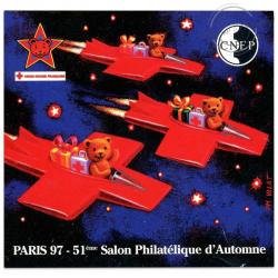 """BLOC CNEP N°25a, 51 ÈME SALON PHILATÉLIQUE D'AUTOMNE """"PARIS 97""""-LUXE-1997"""