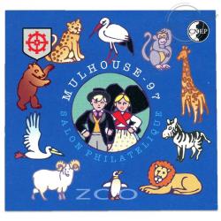 """BLOC CNEP N°24a, SALON PHILATÉLIQUE DE """"MULHOUSE 97""""-1997"""