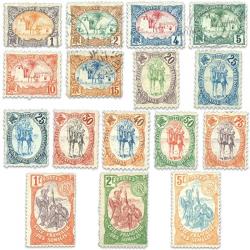 COTE DES SOMALIS N°37 À 52 SÉRIE DE TIMBRES POSTE NEUFS*/OBL-1902
