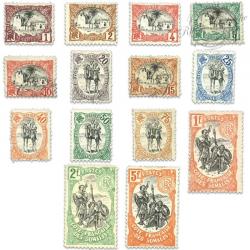 COTE DES SOMALIS N°53 À 66 TIMBRES POSTE NEUFS*/OBL-1903