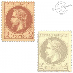 FRANCE N°26A ET 27B, TYPE NAPOLÉON, TIMBRES NEUFS*
