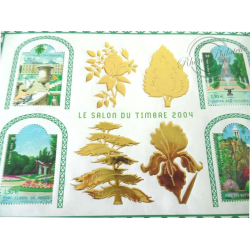LOT TIMBRES-POSTE EN €, BLOCS SALON DU TIMBRE 2004