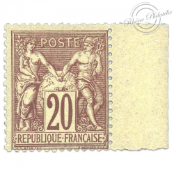FRANCE N°67 TYPE SAGE 20C, TIMBRE NEUF**1876