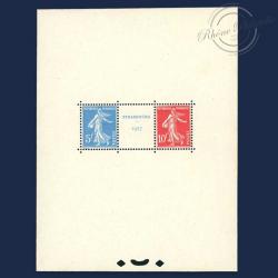 FRANCE BLOC N°2 EXPOSITION PHILATÉLIQUE STRASBOURG, TIMBRES NEUFS-1927