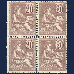 FRANCE N°113 TYPE MOUCHON, BLOC TIMBRES NEUFS**/*1900-01