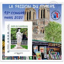 """FRANCE BLOC FFAP N°17 """"93e CONGRÈS PARIS 2020"""" BLOC AUTOADHÉSIF LUXE"""