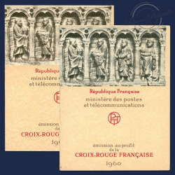 FRANCE 2 CARNETS CROIX-ROUGE N°2009, TIMBRES POSTE NEUFS**1960