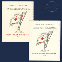 FRANCE 2 CARNETS CROIX-ROUGE N°2004, TIMBRES NEUFS**1955