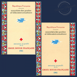 FRANCE 2 CARNETS CROIX-ROUGE N°2010, TIMBRES NEUFS-1961