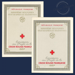 FRANCE 2 CARNETS CROIX-ROUGE N°2006, TIMBRES NEUF-1957