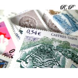 LOT DE 100 TIMBRES-POSTE 0.54 €