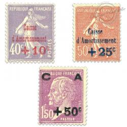 FRANCE N°249 À 251 CAISSE D'AMORTISSEMENT, TIMBRES NEUFS**1928