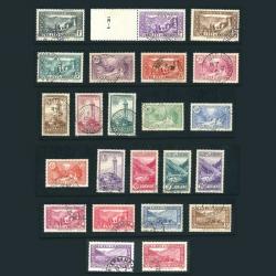 ANDORRE FRANCAIS N°24 À 45, PAYSAGES DE LA PRINCIPAUTÉ TIMBRES OBL-1932-33