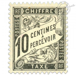 FRANCE TAXE N°15 10C, TIMBRE NEUF-1882