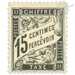 FRANCE TAXE N°16 15C, TIMBRE NEUF**1882