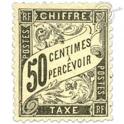 FRANCE TAXE N°20 50C, TIMBRE NEUF*1892
