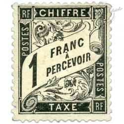 FRANCE TAXE N°22, 1F. TIMBRE NEUF*1882-SIGNÉ BRUN