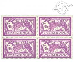FRANCE N°240 TYPE MERSON, BLOC DE 4 TIMBRES NEUFS-1927-31