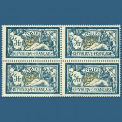 FRANCE N°123 TYPE MERSON, BLOC DE 4 TIMBRES NEUFS-1900