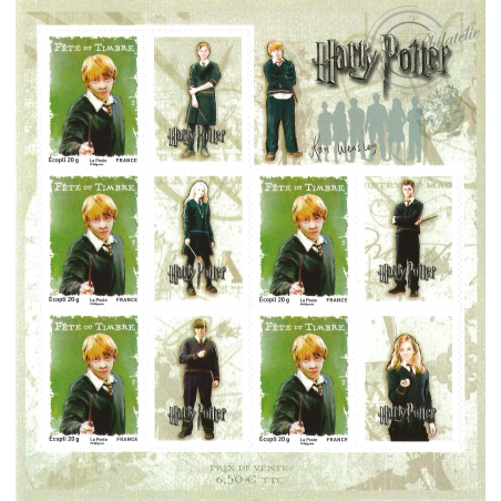 FEUILLE HARRY POTTER N°4025A ** 2007