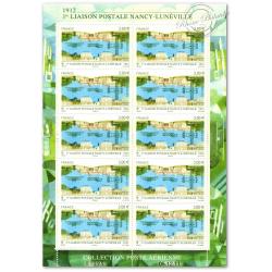 PA N°_75 LIAISON POSTALE NANCY LUNEVILLE 2012 LUXE FEUILLE F75 SOUS BLISTER