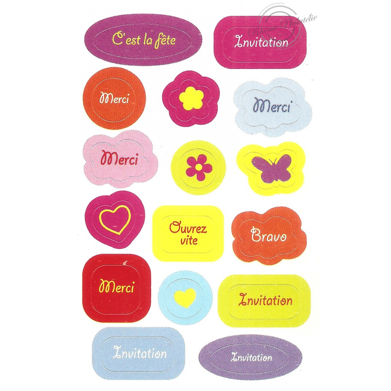 """CARNET """"STICKERS"""" BC129"""