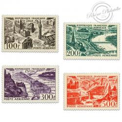 FRANCE PA N°24 À 27 VUES DE GRANDES VILLES, TIMBRES NEUFS**1949