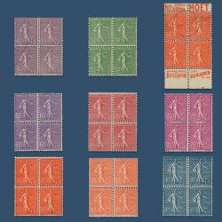 FRANCE N°197 À 205 SÉRIE TYPE SEMEUSE LIGNÉE ,TIMBRES NEUFS-1924-32