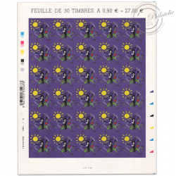 "FEUILLE N°387 ""COEURS DE LANVIN"", TIMBRES ST VALENTIN AUTOADHESIFS-2010"