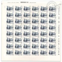 FEUILLE TIMBRES POSTE AUTOADHÉSIFS N°565 PORTRAIT CLAUDE BOURGELAT (2011)
