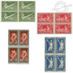 FRANCE BLOCS DE 4 TIMBRES N°183 À 186, JEUX OLYMPIQUES PARIS, TIMBRES NEUFS-1924
