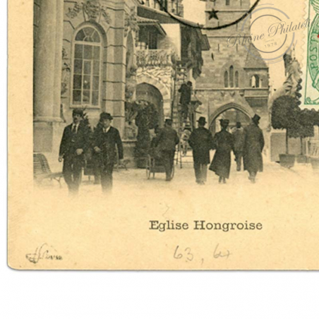 ZANZIBAR N°63 ET 64 SURCHARGÉS, TIMBRES OBLITÉRÉS SUR CARTE POSTALE 1904
